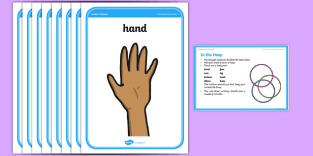Foundation PE (Reception) In the Hoop Cool-Down Activity Card - physical activity, foundation stage, physical development, games, dance, gymnastics