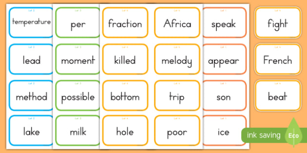 Fry Words The Seventh Hundred Flashcards
