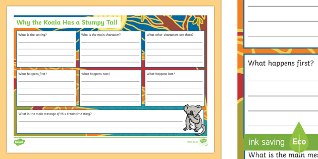 Why The Koala Has A Stumpy Tail Book Review Writing Activity Sheet-Australia