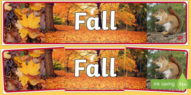Fall Photo Display Banner Leaves