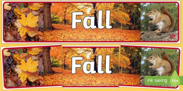 Fall Photo Display Banner