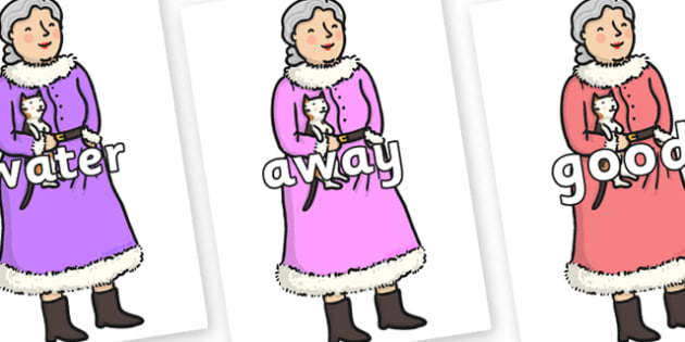 Next 200 Common Words on Mrs Clause to Support Teaching on The Jolly Christmas Postman - Next 200 Common Words on  - DfES Letters and Sounds, Letters and Sounds, Letters and sounds words, Common words, 200 common words