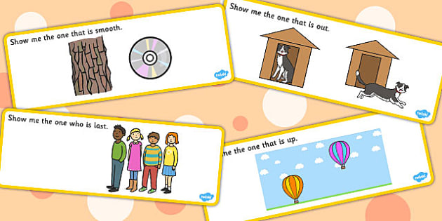 'Show Me The...' Basic Concept Cards Activity (Set Two) - visual aid, concepts