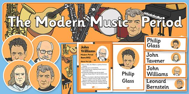 Modern Period Music Display Pack - modern period, music, pack