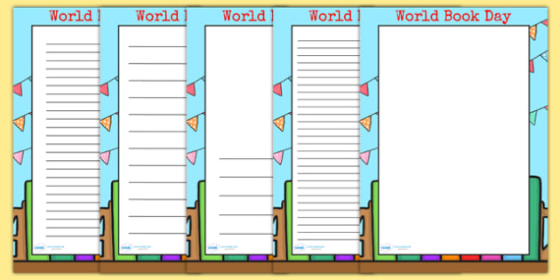 page borders book day page borders world book day reading books