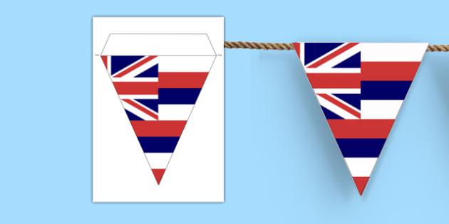 Hawaii Flag Display Bunting