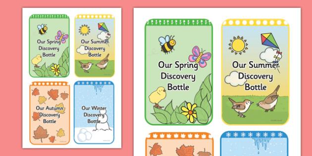 Seasons Discovery Bottle Labels - seasons, discovery, bottle, labels, display