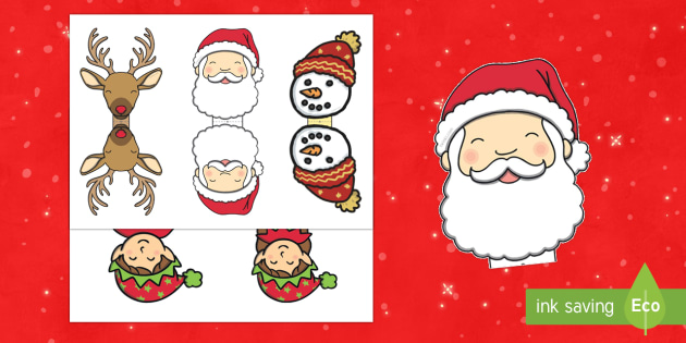 Lolly Pop Christmas Characters Print-Out - Christmas, Nativity, Jesus, xmas, Xmas, Father Christmas, Santa, christmas gift