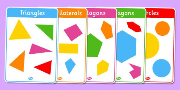 Regular and Irregular Shapes 2D Posters - regular, irregular, shapes, 2d, posters, display