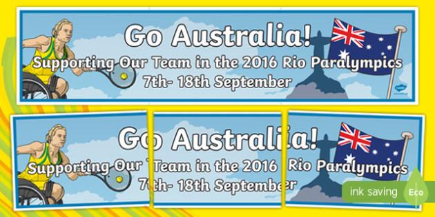 Australian Rio Paralympics 2016 Display Banner-Australia
