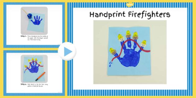 Handprint Firefighters Craft Instructions PowerPoint - craft