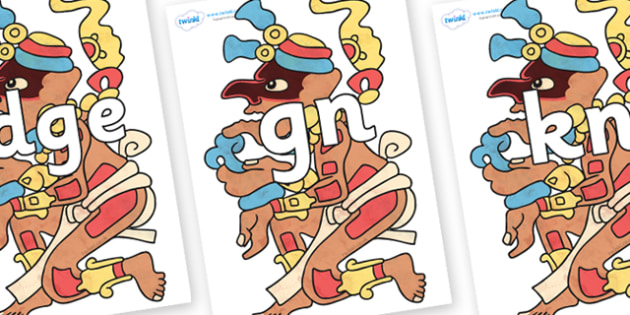 Silent Letters on Itzamnaaj - Silent Letters, silent letter, letter blend, consonant, consonants, digraph, trigraph, A-Z letters, literacy, alphabet, letters, alternative sounds