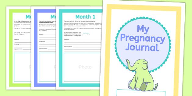 Pregnancy Journal Booklet