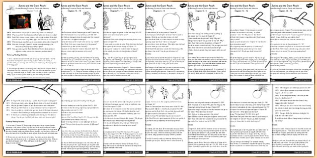 Guided Reading Activity Pack to Support Teaching on James and – James and the Giant Peach Worksheets