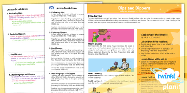 D&T: Dips and Dippers KS1 Planning Overview CfE