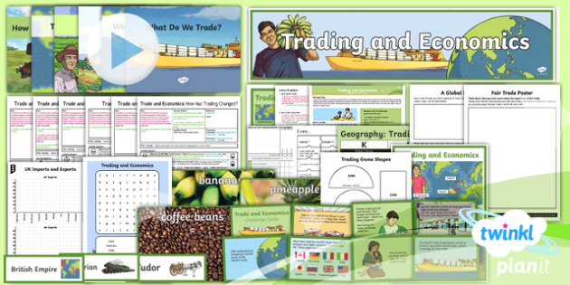 PlanIt - Geography Year 6 - Trade and Economics Unit Pack