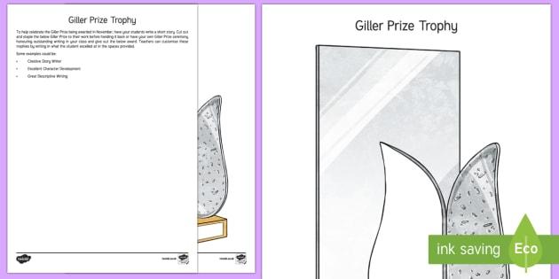 Giller Prize Trophy Activity Sheet