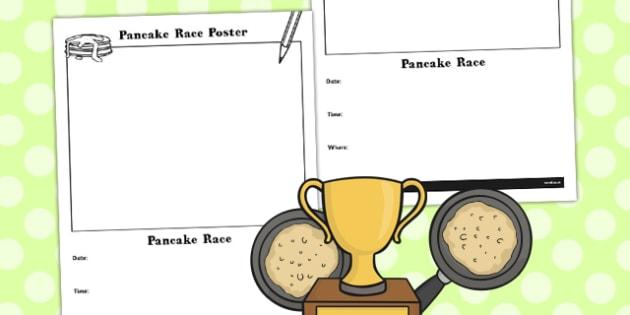 Pancake Race Poster - pancakes, games, game, activity, activities