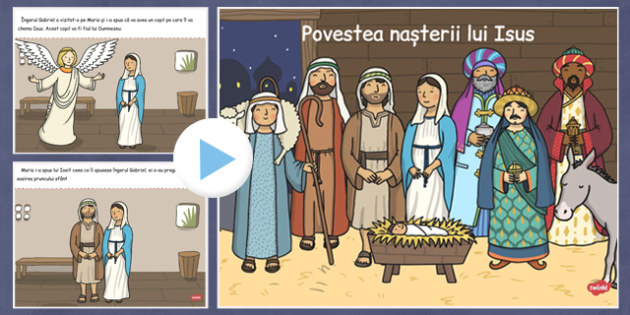 The Nativity Christmas Story PowerPoint Romanian Translation - romanian, nativity, christmas story