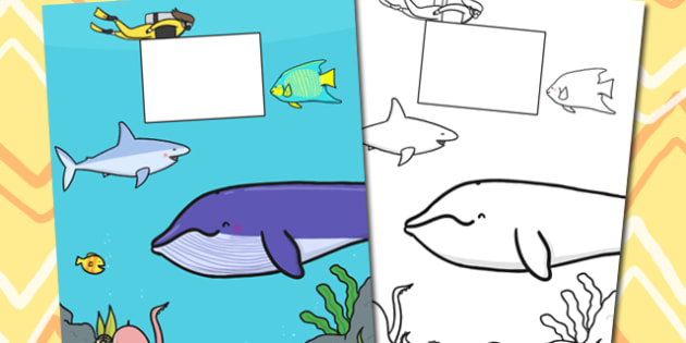 Under the Sea Themed Calendar Template - calendar, template