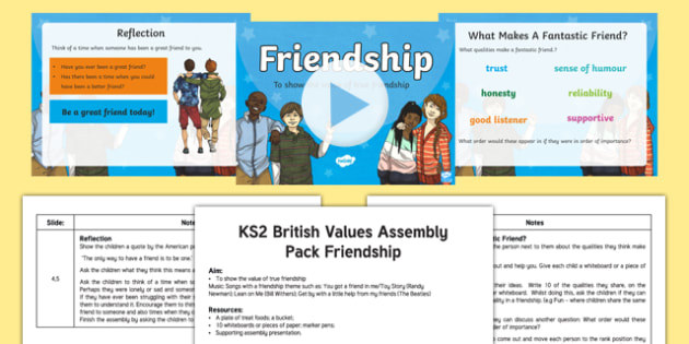 British Values Friendship Assembly Pack