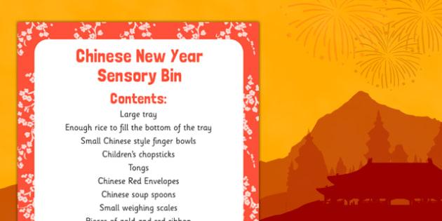 Chinese New Year Sensory Bin - chinese new year, sensory bag, sensory, bin, new year