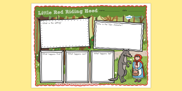 Little Red Riding Hood Story Review Writing Frame - story review