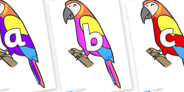 Phoneme Set on Macaws - Phoneme set, phonemes, phoneme, Letters and Sounds, DfES, display, Phase 1, Phase 2, Phase 3, Phase 5, Foundation, Literacy