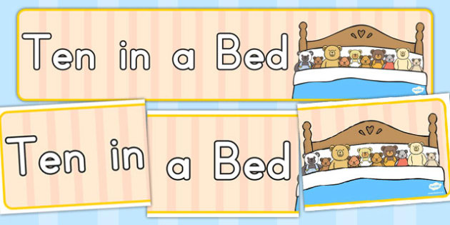 Ten in a Bed Display Banner - displays, banners, bear, bears