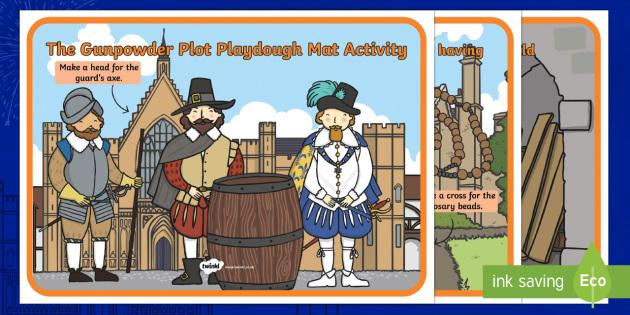The Gunpowder Plot Themed Playdough Mats