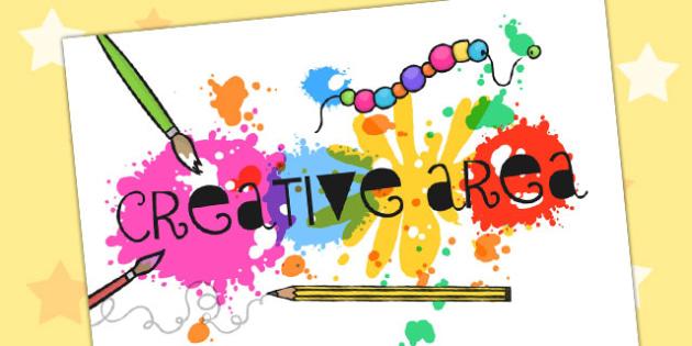 Creative Area Display Sign - creative area, creative area poster, creative area display, creative display poster, display posters, creative, area