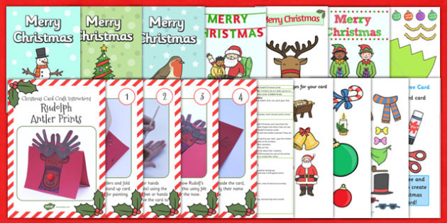 Christmas Card Resource Pack - christmas, card, resource, pack