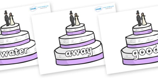 Next 200 Common Words on Wedding Cakes - Next 200 Common Words on  - DfES Letters and Sounds, Letters and Sounds, Letters and sounds words, Common words, 200 common words