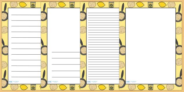 Pancake Day Page Borders - pancake, pancake day, writing, write