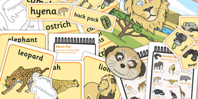 African Safari Role Play Pack - safari, ks1, roleplay, pack