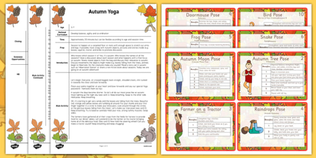 Autumn Yoga Story - autumn, yoga story, yoga, story, autumn yoga