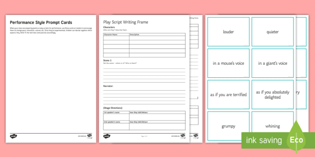Writing a Play Script LA Activity Pack - Script writing, play script, SEN, lower ability, english, drama, performance