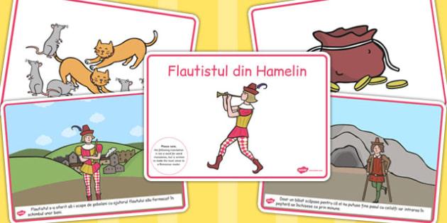 Flautistul din Hamelin, lectura, rezumat cu imagini, imprimabile, Romanian