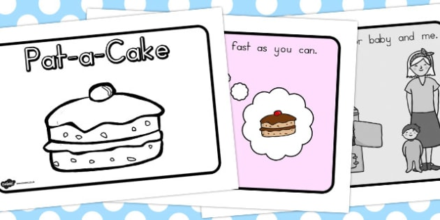 Pat a Cake Story Sequencing A4 - sequence, stories, rhyme, rhymes