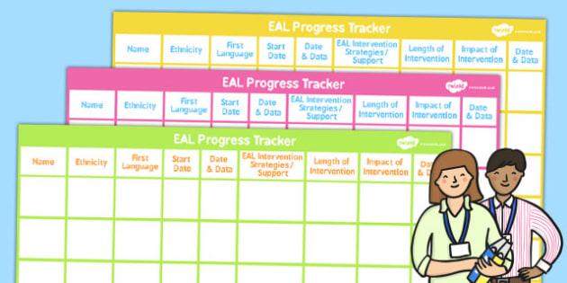 EAL Progress Tracker - English, EASL, tracker, progression