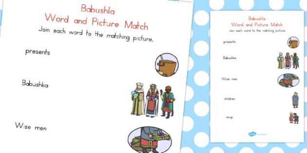 Babushka Word and Picture Match - australia, babushka, match