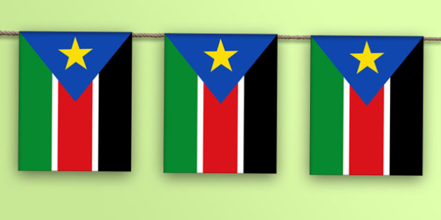 South Sudan Flag Bunting - world, geography, flags, Africa, olympics, world, ks2