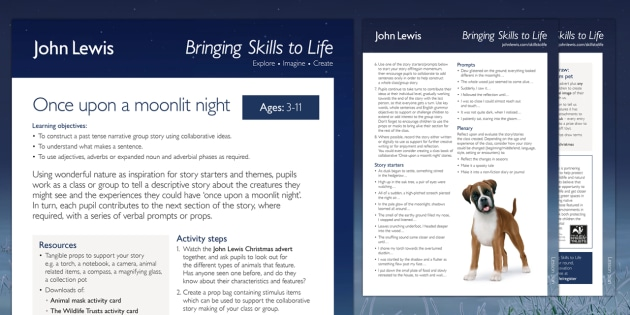 John Lewis Christmas Once Upon a Moonlit Night Lesson Plan
