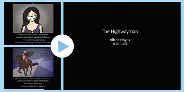 The Highwayman Poem PowerPoint - the highwayman, the highway man, the highwayman poem, the highwayman poem powerpoint, the highwayman powerpoint