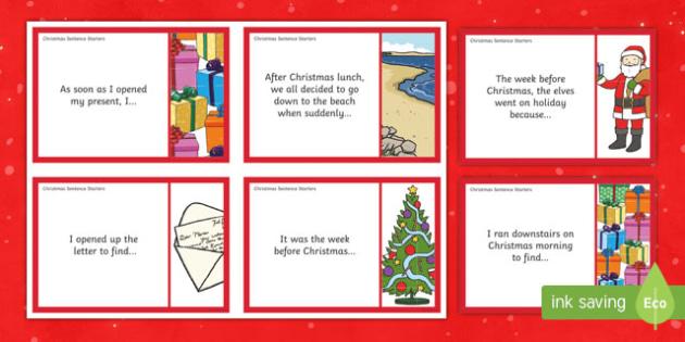 Christmas Sentence Starter Story Cards