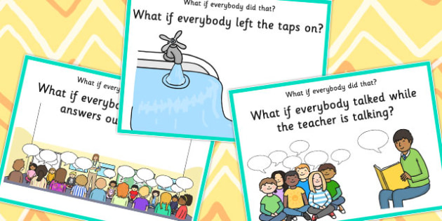 'What if Everyone Did That?' Cards - what if, cards, sen, what if everyone