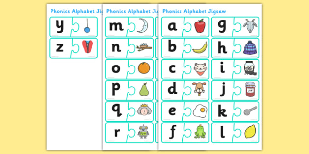 Phonics Jigsaw - phase 1, phase one, phases, phonics, jigsaw, phonics jigsaw, phonics games, phonics activites, games, activities, word games