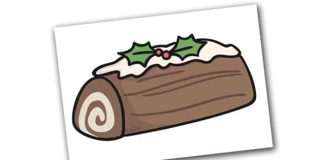 Christmas A4 Yule Log Editable  - christmas, yule log, editable