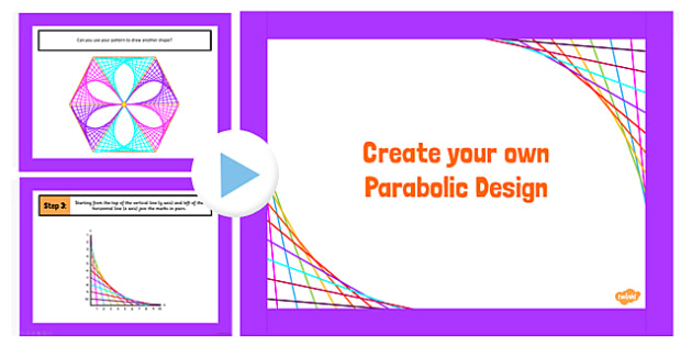 Parabolic Designs PowerPoint - parabolic, design, powerpoint
