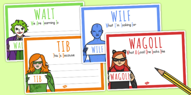 Superhero Villain Themed WALT WILF TIB WAGOLL Posters - display